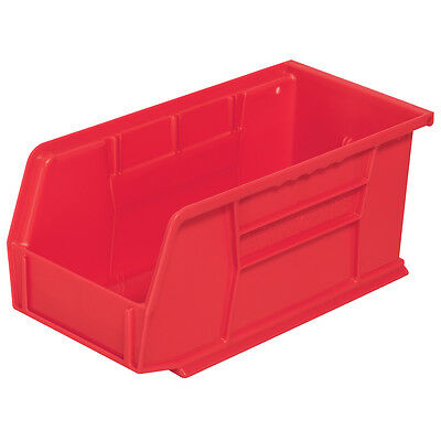 Akro-Mils AkroBin Stack & Hang Bin 10-7/8D x 5-1/2W x 5H Red  12 pack