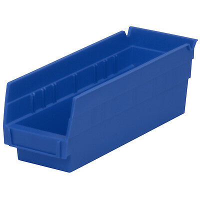 Akro-Mils Shelf Bin 11-5/8D x 4-1/8W x 4H Blue  24 pack