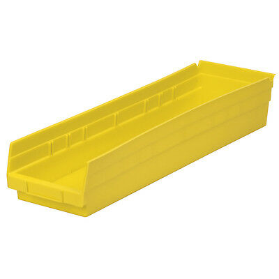 Akro-Mils Shelf Bin 23-5/8D x 6-5/8W x 4H Yellow  6 pack