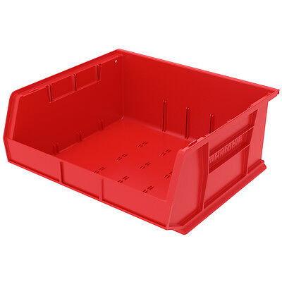 Akro-Mils AkroBin Stack & Hang Bin 7Hx16-1/2Wx14-3/4D Red  6 pack