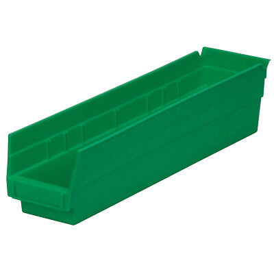 Akro-Mils Shelf Bin 17-7/8D x 4-1/8W x 4H Green  12 pack