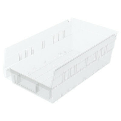 Akro-Mils Shelf Bin 11-5/8D x 6-5/8W x 4H Semi Clear  12 pack