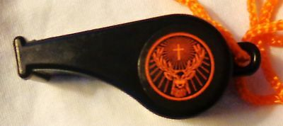 Jagermeister Plastic Whistle on a String - Black...NEW