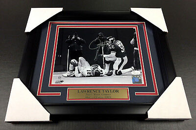 Lawrence Taylor New York Giants Autographed Signed 8X10 Photo Framed Steiner Coa