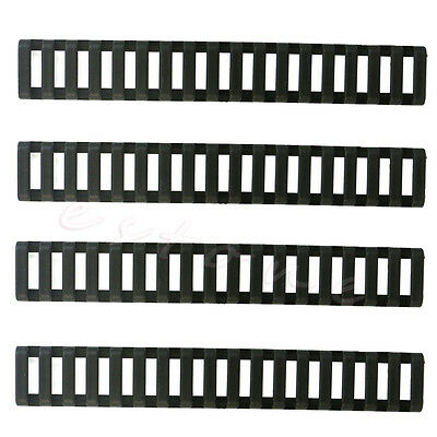 Pack of 4 Heat Resistant Rifle Handguard Weaver Picatinny Ladder Rail Cover New