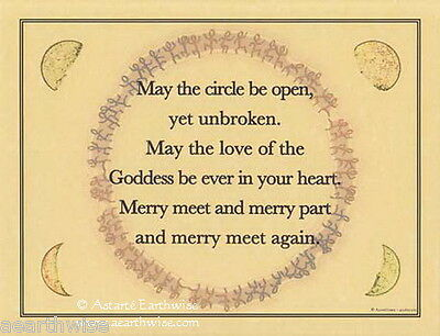 MAY THE CIRCLE BE POSTER A4 SIZE Wicca Pagan Witch Witch Goth BOOK OF SHADOWS