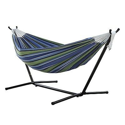 Vivere Combo Double Oasis Hammock with Steel Stand 9ft UHSDO9-24 Hammock NEW