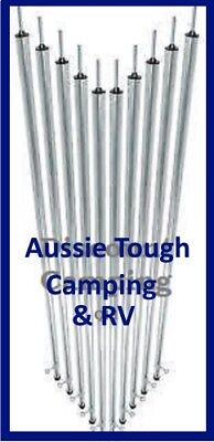 "10 x 7ft 6"" 230cm Tarp Poles Free Shipping Heavy Duty Not Lightweight Rubbish"