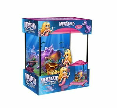 Marina Mermaid Girls Kids Child Aquarium Glass Fish Tank 17L Coldwater Tropical
