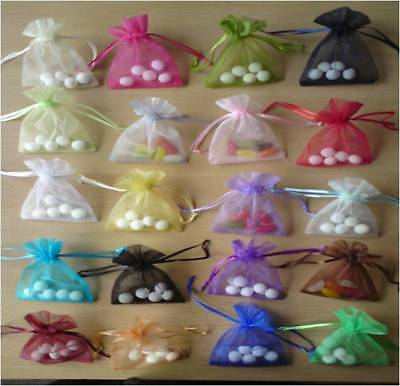 Medium Luxury Organza Wedding Favor Gift Bag Jewellery Pouches Pack 25/50/100pc