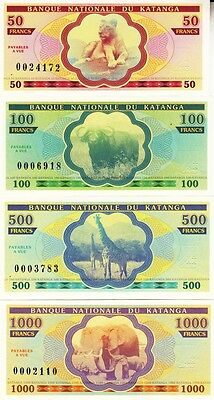Katanga set 7 banknotes 2013 UNC (private issue)