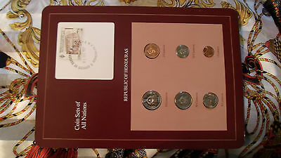 Coin Sets of All Nations Honduras w/card 1957-1980 UNC 1 Centavo 1957