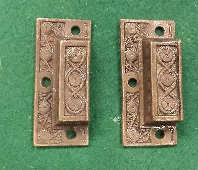 Mini DRAWER PULLS  EMBOSSED CAST IRON  VICTORIAN STYLE up to 24 available