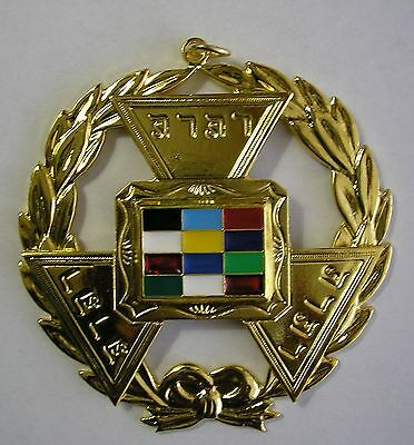 Past Grand High Priest Jewel Pendant Royal Arch Chapter York Rite Chain Collar