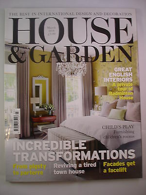 House and Garden magazine March 2014 - Great English Interiors