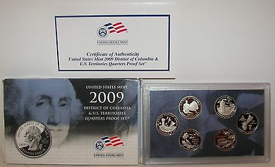 2009 U.S. Proof District of Columbia & U.S. Territories Quarter Set