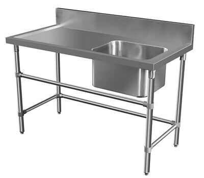 1000 x 600mm COMMERCIAL SINGLE BOWL KITCHEN SINK #304 STAINLESS STEEL BENCH E0
