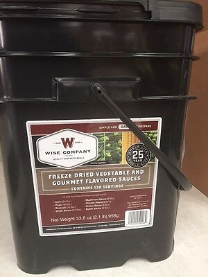 WISE 120 Serve VEGETABLES & SAUCES Freeze Dried Food Emergency Camp Hiking TUB