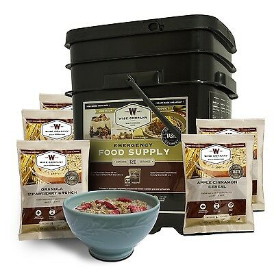 WISE 120 Serve BREAKFAST Freeze Dried Food Emergency Survival Prepper Camp TUB