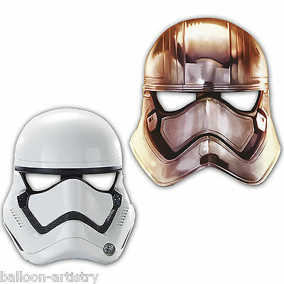 6 Star Wars Episode VII 7 The Force Awakens Party Paper Stormtrooper Face Masks