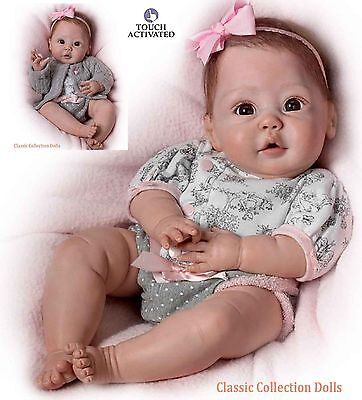 "Ashton Drake ""CUDDLY COO""- INTERACTIVE LIFELIKE BABY DOLL - NEW - IN STOCK NOW"
