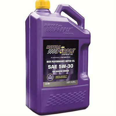 Royal Purple 51530 5W30 SAE Synthetic Motor Oil 5 Quart Jug With ZDDP Additives