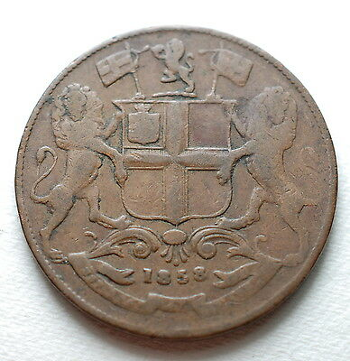 1858  East  India Company   One Quarter Anna