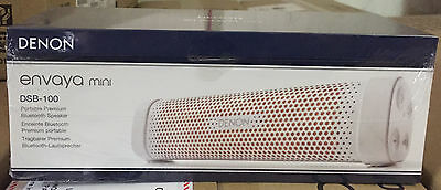 Denon DSB-100 Envaya mini Wireless Portable Speaker iPod iPad iPhone Mac WHITE