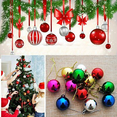 12 pcs Christmas Xmas Tree Hanging Balls Baubles Party Wedding Decor Ornaments