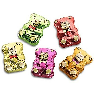 Storz Teddy Bears Foil Wrapped Belgian Milk Chocolate Party Bags 10-100 Full Box