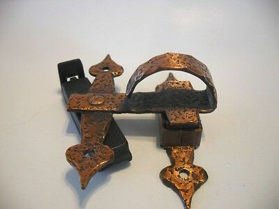 Vtg. NOS Copper Plated Steel Cabinet Finger Pulls Handles Magnetic Offset Latch