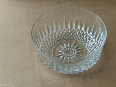 """Vintage 8"""" Cut Glass Bowl, made by Arcoroc France"""