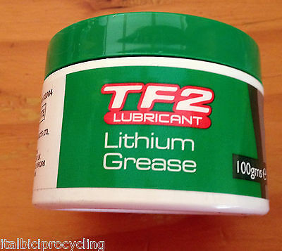 1 x Weldtite TF2 100 Gm Tub Lithium WaterProof Cycle Grease 4 Pedals& Suspension