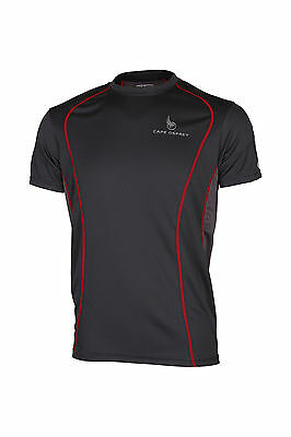 Cape Osprey Plateau Sport Running Mens T Shirt - Anthracite - FREE Coolmax socks