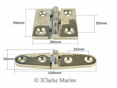 Marine grade stainless steel hinge strap butt hinges 316 A4 hatch door cabinet