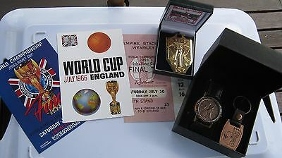 1966 World Cup  Commemorative 1966  Penny Watch Working & Repro Medal & Cards