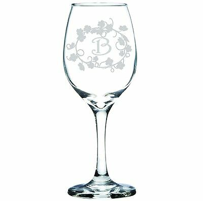 Engraved Personalized Customized Wine Glass Monogram or Designed to Your Specs