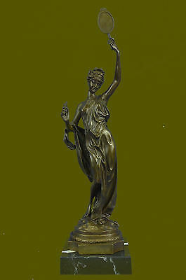Ausrtia Vintage Pure Bronze Spelter Figure of a Dancer Snake Charmer Hot Cast NR