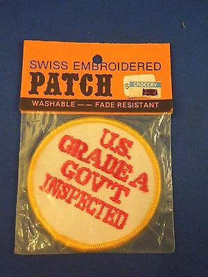 Vintage US Grade A Gov/'t Inspected Sew On Patch Sealed Trucker Hat Jacket Style