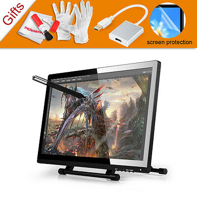 """UGEE 21.5"""" IPS Graphic Tablet Monitor+HDMI Adapter for Photoshop SAI Windows MAC"""