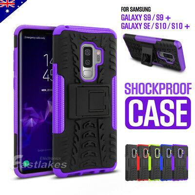 For Samsung S9 S9+ S10 Plus Hybrid Shockproof Stand Case Cover Tough Heavy Duty