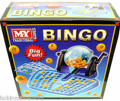 Bingo Lotto Lottery Traditional Family Game Set 90 Bingo Balls Cards Chips New