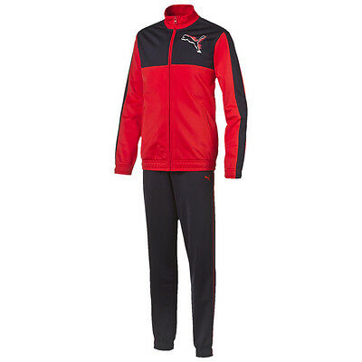 Puma Trainingsanzug FUN No. 1 Graphic Poly Suit Closed | Kinder schwarz - rot