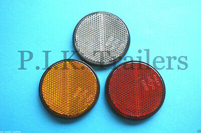 FREE P+P* 60mm Self Adhesive Stick On Reflectors Metal Fence Post & Trailers