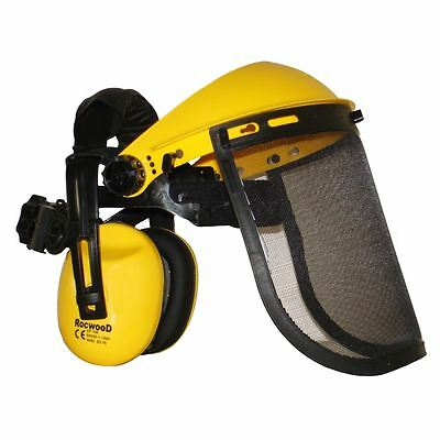 Ear Defenders & Metal Mesh Visor For Trimmers, Strimmers, Brushcutters