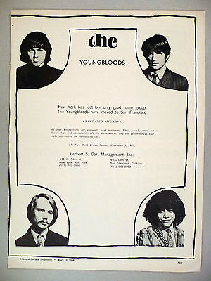The Youngbloods PRINT AD - 1968 ~ Jesse Colin Young