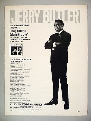 Jerry Butler PRINT AD - 1968