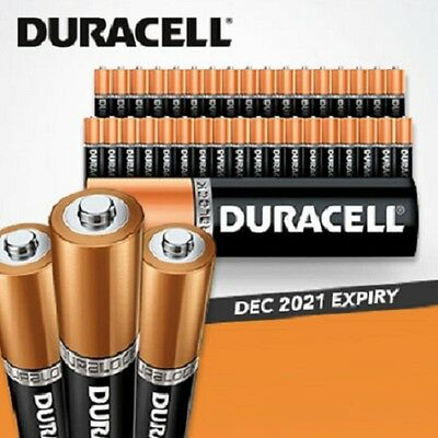 40 X 20 X 10 New Genuine Alkaline Duracell AA/AAA Duralock Version Batteries*