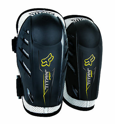 New Fox Racing Youth Black Titan Sport Elbow Guards For MX & Off-Road Riding