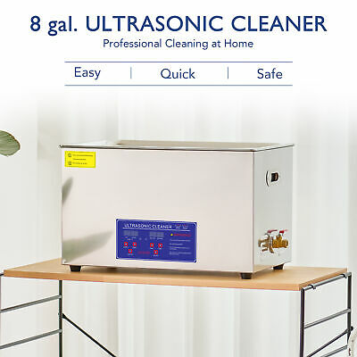30L Liter Digital Ultrasonic Cleaner Stainless Steel for Jeweler w/ Heater Timer